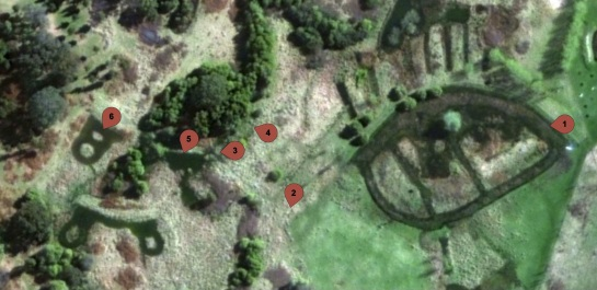 Short video locations taken across a transect of the floodplain at Sunningdale