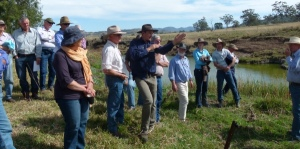 Cam speaking at a Soils For Life event at Craig Carter's property, Tallawang.